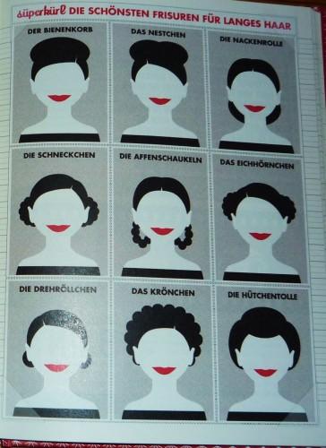 Foto von der Seite mit den schönsten Frisuren für langes Haar von Süperkürl im Lily Lux Notizbuch